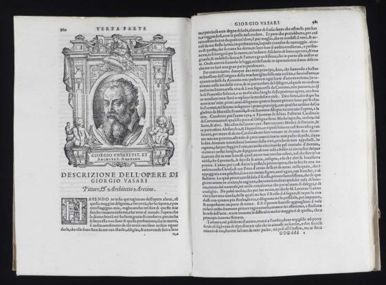 Foto: Giorgio Vasari (1511-1574). Le vite de' piu eccellenti pittori scultori, e architetori. Florencia. Giunti. 1568.
