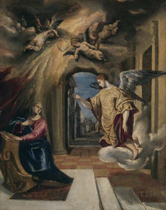 El Greco (1541-1614). Anunciación. Hacia  1570.