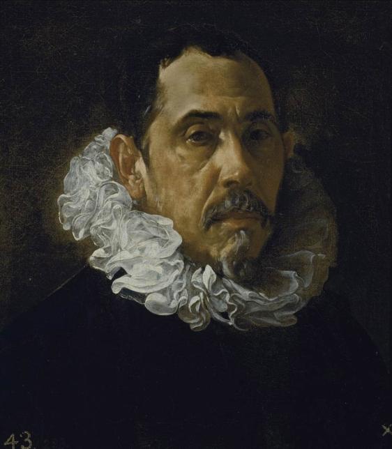 Diego Velázquez (1599-1660). Retrato de Pacheco. 1619-1622.