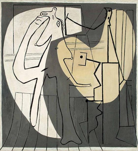 Picasso contra Picasso. 'El pintor y su modelo' (1927). Museo de arte contemporáneo de Teherán.