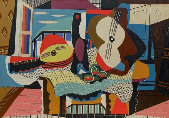 Picasso contra Picasso. 'Mandolina y guitarra', 1924. Museo Guggenheim de Nueva York.