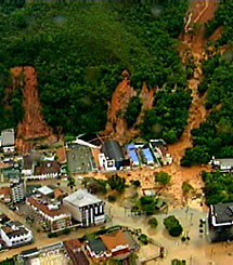 Teresópolis, desde el aire. | AP