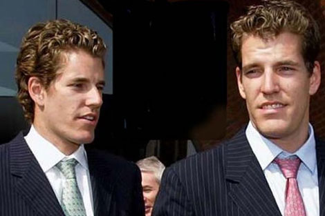 Los gemelos Winklevoss.