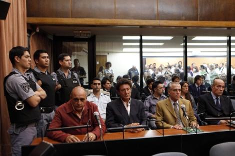 Los acusados por el Caso Gelman, durante el juicio. | Efe