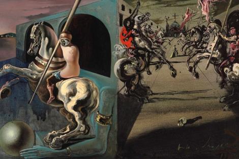 La obra de Dalí 'Chevaliers en parade'.