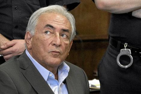 DSK, durante su comparecencia ante el Gran Jurado. | Ap