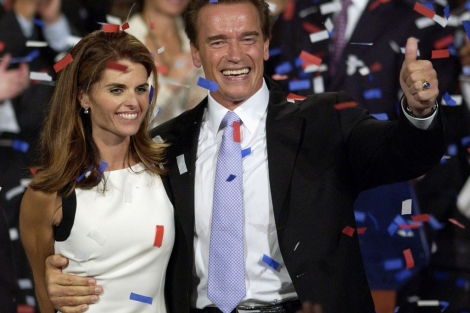 Arnold Schwarzenegge y Maria Shriver. I AP