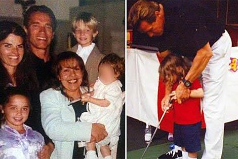 Arnold Schwarzenegger con su esposa, su amante y sus hijos. | Splash News Online