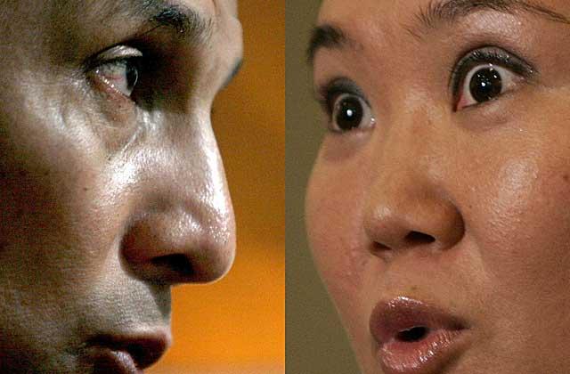 Los candidatos presidenciales de Perú Keiko Fujimori y Ollanta Humala. | Efe