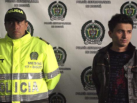 Carlos Valencia, el 'sicario-cantante', tras ser detenido. | ELMUNDO.es