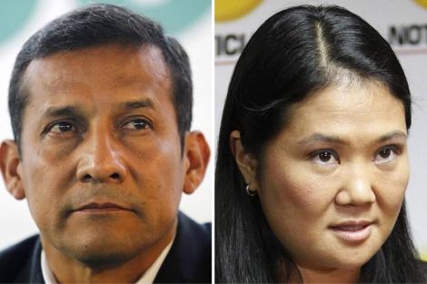 Los candidatos Ollanta Humala y Keiko Fujimori. | Reuters