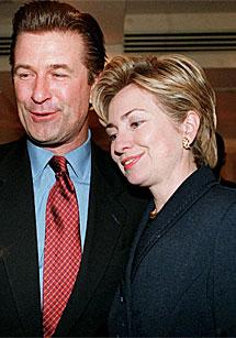 Badwin y Clinton en 1999. | AP
