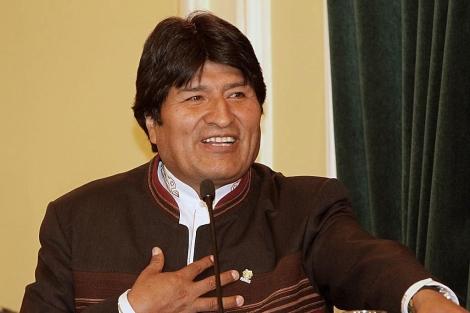 El presidente boliviano, EvoMorales, habla durante un discurso.   Efe