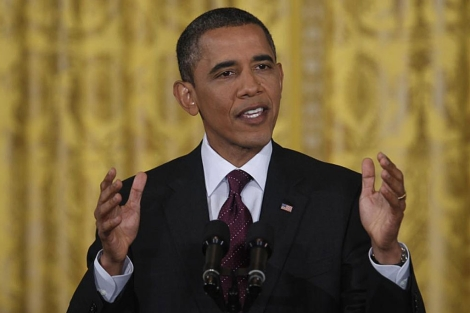 El presidente Obama en una conferencia en la Casa Blanca. | Reuters