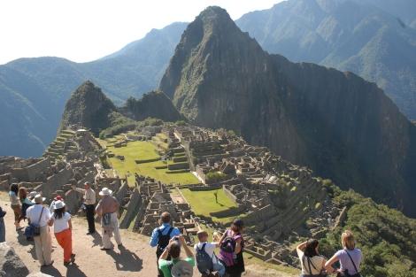 Vista panorámica de Machu Pichu.