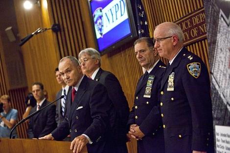 El comisionado de la Policía de Nueva York, Ray Kelly, da explicaciones sobre el caso. | AFP