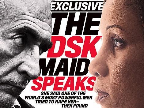 DSK y la camarera que lo denunció, en la portada de 'Newsweek'. | Reuters