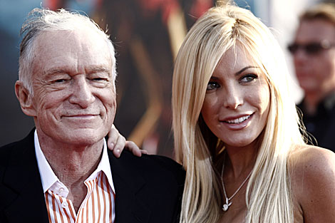 Hugh Hefner y Crystal Harris.