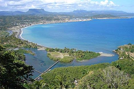 Vista de la bahía de Baracoa, en la provincia de Guantánamo.