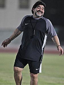 Diego Maradona en Dubai. | AP