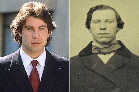 Una foto de John Travolta y la fotografía de 1860 que ha encontrado un coleccionista.