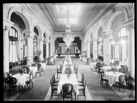 El comedor del hotel en 1940. | Centro de Fotografía de Montevideo