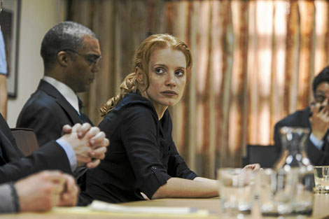 Jessica Chastain plays the leader of the SEALs in 'Darkest Night'.