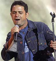 Alejandro Sanz, en Las Palmas de Gran Canaria. (EFE)