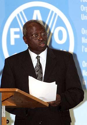 Director-geral da FAO Jacques Diouf