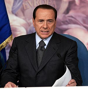 Berlusconi es favorito para ganar en Italia. Apuestas