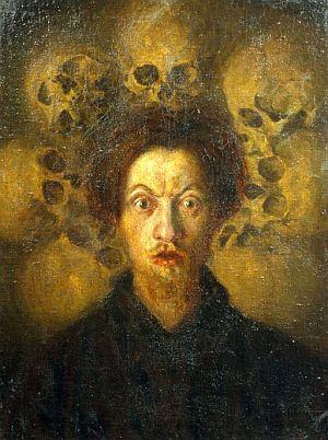 'Autorretrato con calaveras', una de las obras de la muestra. (Foto: EFE)