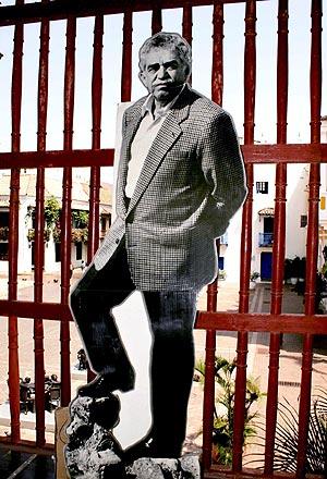 Una fotografía del Nobel en un museo de Cartagena de Indias. (Foto: EFE)