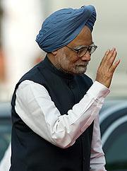 El primer ministro indio, Manmohan Singh, en el acto de celebración. (Foto: EFE)