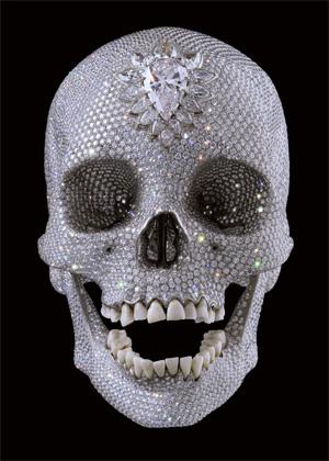 La calavera incrustada de diamantes del artista Damien Hirst. (Foto: REUTERS)