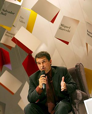 Laporta, durante su intervencin. (Foto: EFE)