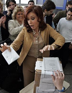 2007 : Elections présidentielles pour Cristina Kirchner