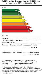clasificacion energetica de casas y edificios