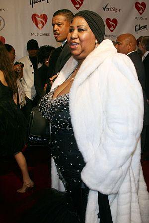 Aretha Franklin, durante una cena de gala en Los Angeles. (Foto: AP)
