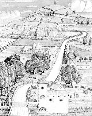 Dibujo original de 'El señor de los anillos' (Ilustración: J.R.R. Tolkien)