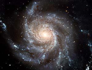 Disco espiral de estrellas. (Foto: NASA)