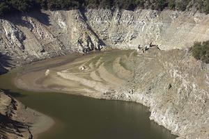 Embalse de Susqueda en la cuenca del Ter, el pasado día 11. (Foto: Efe)
