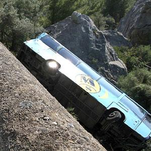 Imagen del autobús siniestrado. (Foto: Jordi Avellà)