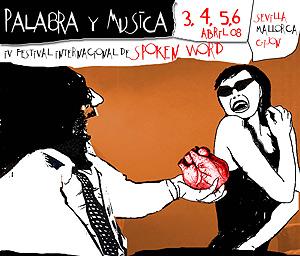 Detalle del cartel del IV Festival Palabra y Música.