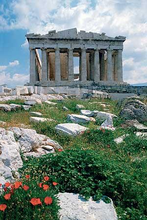 Panorámica del Partenón de Atenas.