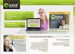Página de presentación de bubok.es.