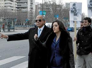 El delincuente Carlos Morín a la salida de los juzgados de Madrid hace un año, tras declarar por evasiónb de impuestos y blanqueo de dinero