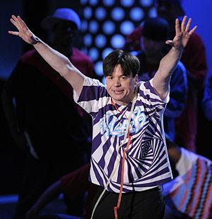 Mike Myers, en la entrega de los premios MTV, el pasado domingo. (Foto: AP)