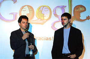 Sergey Brin (i). Larry Page, creadores de Google. (Foto: RICARDO CASES)