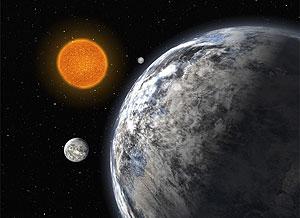 Recreación artística del trío de 'súper-Tierras' descubierto. (Foto: REUTERS)