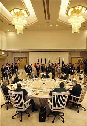 Sala de reuniones del G8. (Foto: AFP)